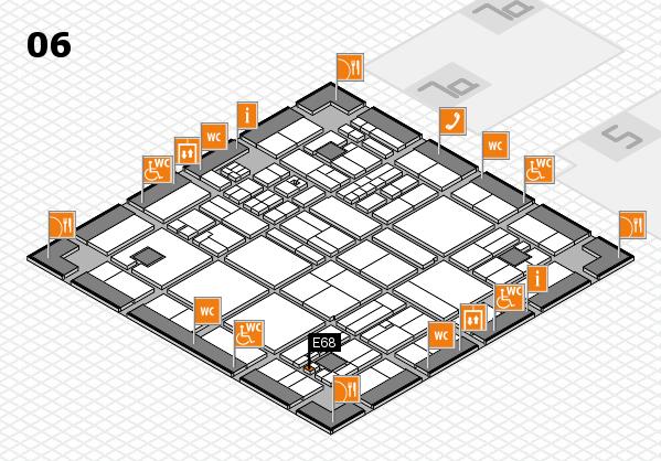 drupa 2016 hall map (Hall 6): stand E68
