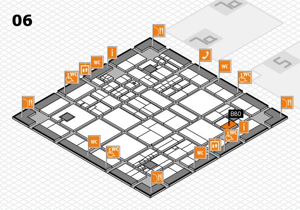 drupa 2016 hall map (Hall 6): stand B80