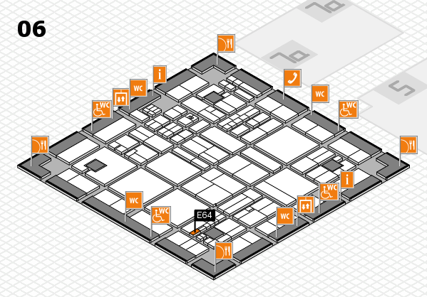 drupa 2016 hall map (Hall 6): stand E64