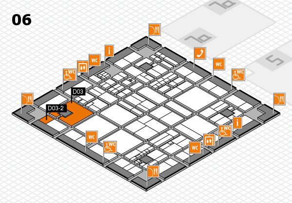 drupa 2016 hall map (Hall 6): stand D03, stand D03-2