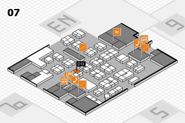 drupa 2016 hall map (Hall 7): stand D13