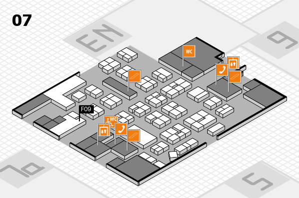 drupa 2016 hall map (Hall 7): stand F09