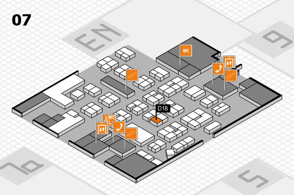 drupa 2016 hall map (Hall 7): stand D18