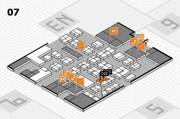 drupa 2016 hall map (Hall 7): stand D20, stand D22