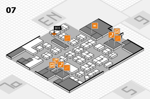 drupa 2016 hall map (Hall 7): stand B03