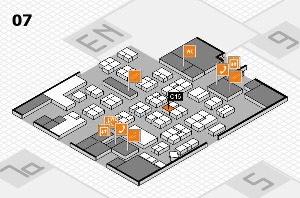 drupa 2016 hall map (Hall 7): stand C16