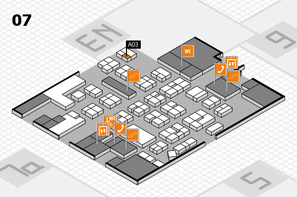 drupa 2016 hall map (Hall 7): stand A03