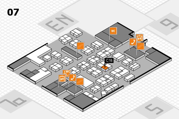 drupa 2016 hall map (Hall 7): stand C18