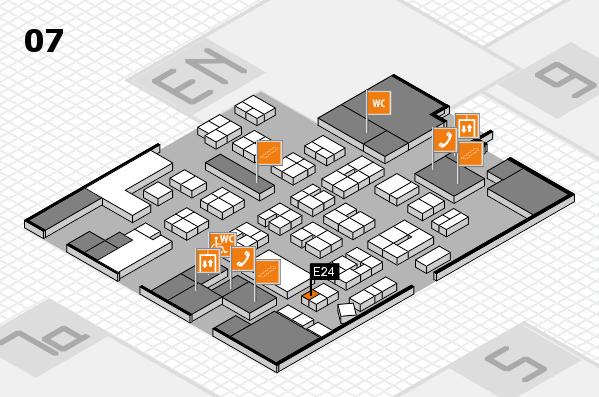 drupa 2016 hall map (Hall 7): stand E24