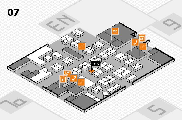 drupa 2016 hall map (Hall 7): stand D16