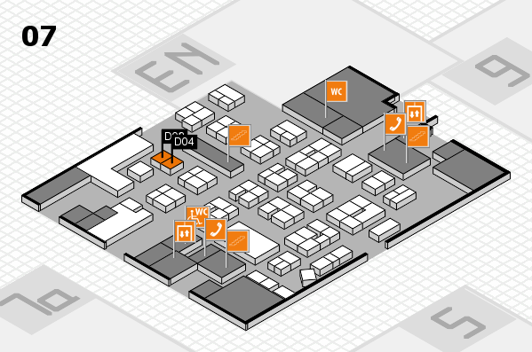 drupa 2016 hall map (Hall 7): stand D02, stand D04