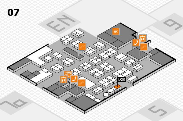 drupa 2016 hall map (Hall 7): stand D28