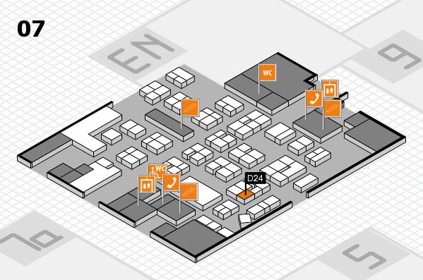 drupa 2016 hall map (Hall 7): stand D24