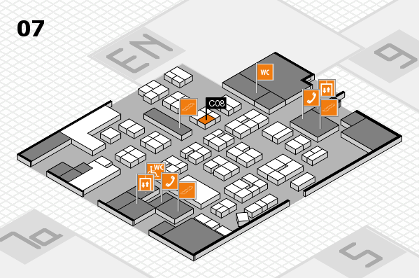 drupa 2016 hall map (Hall 7): stand C08