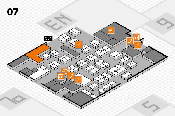 drupa 2016 hall map (Hall 7): stand C01