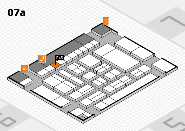drupa 2016 hall map (Hall 7a): stand E45