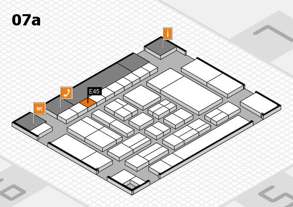 drupa 2016 Hallenplan (Halle 7a): Stand E45