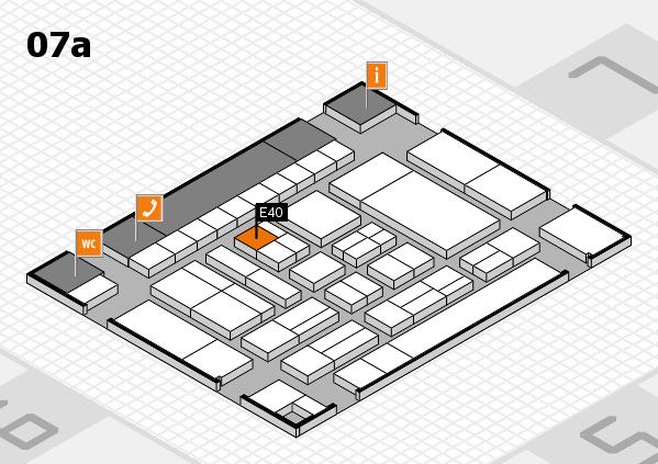 drupa 2016 Hallenplan (Halle 7a): Stand E40