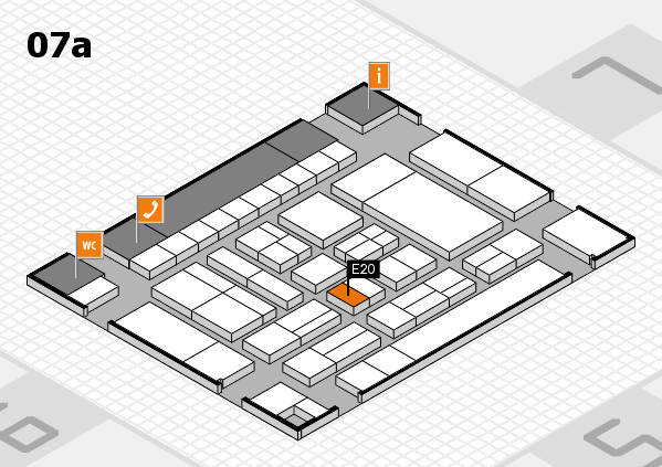 drupa 2016 Hallenplan (Halle 7a): Stand E20
