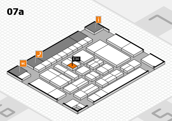 drupa 2016 hall map (Hall 7a): stand E34