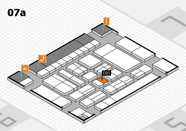 drupa 2016 Hallenplan (Halle 7a): Stand D21