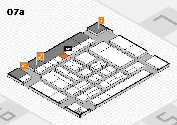 drupa 2016 hall map (Hall 7a): stand D45