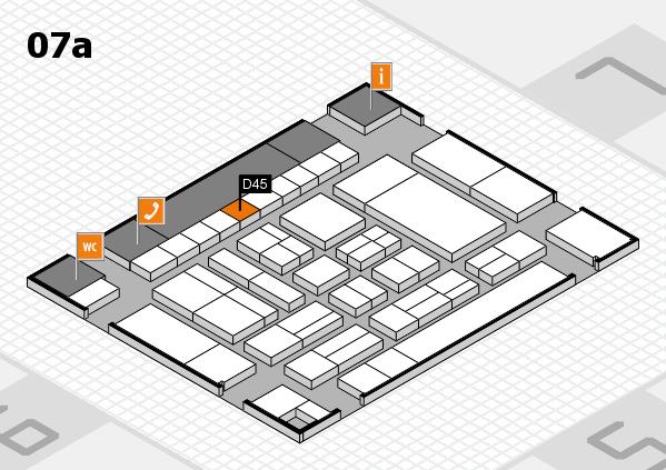 drupa 2016 Hallenplan (Halle 7a): Stand D45