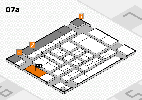 drupa 2016 hall map (Hall 7a): stand F41