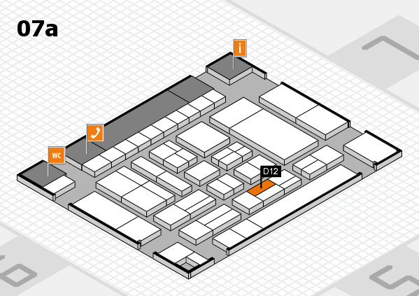 drupa 2016 Hallenplan (Halle 7a): Stand D12