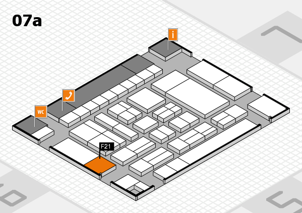 drupa 2016 Hallenplan (Halle 7a): Stand F21