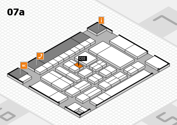 drupa 2016 hall map (Hall 7a): stand D33
