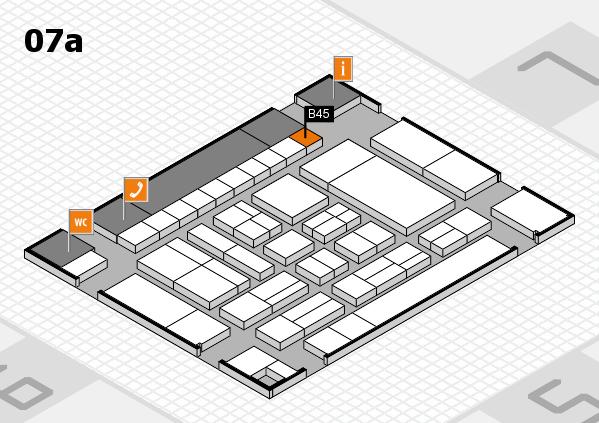 drupa 2016 hall map (Hall 7a): stand B45