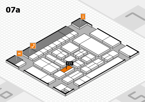 drupa 2016 Hallenplan (Halle 7a): Stand E23