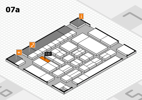 drupa 2016 Hallenplan (Halle 7a): Stand E43