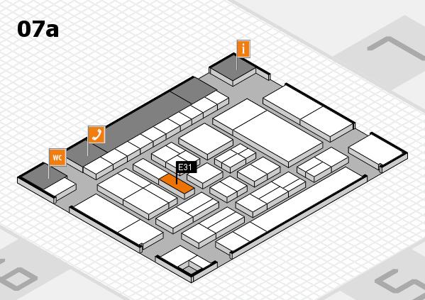 drupa 2016 hall map (Hall 7a): stand E31
