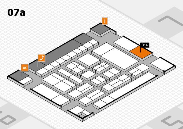 drupa 2016 hall map (Hall 7a): stand B14