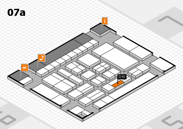 drupa 2016 Hallenplan (Halle 7a): Stand D10