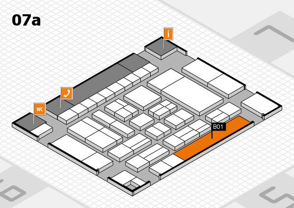drupa 2016 hall map (Hall 7a): stand B01
