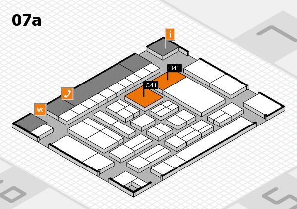 drupa 2016 hall map (Hall 7a): stand B41, stand C41