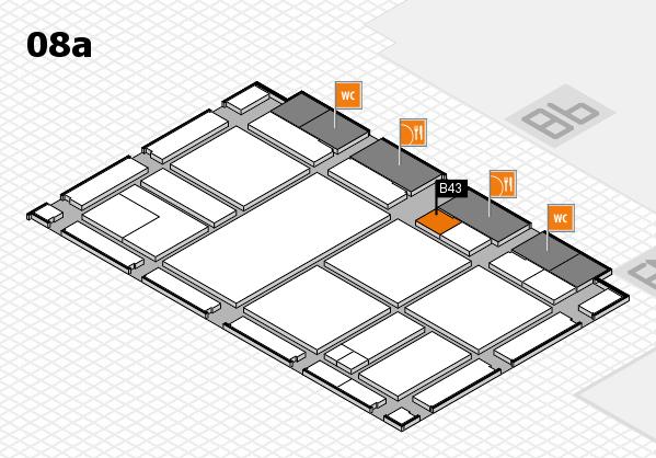 drupa 2016 hall map (Hall 8a): stand B43