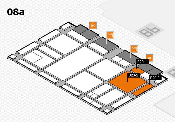 drupa 2016 hall map (Hall 8a): stand B20-1, stand B20-3