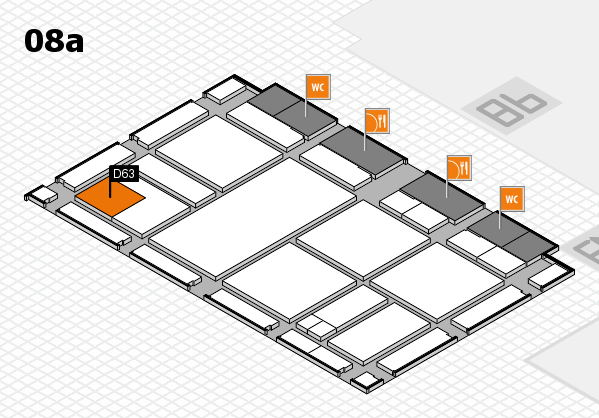 drupa 2016 hall map (Hall 8a): stand D63
