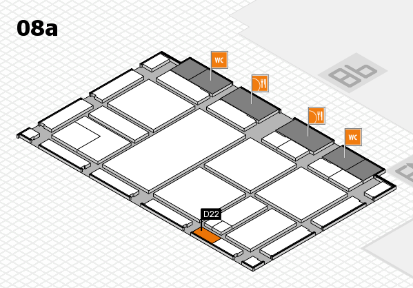 drupa 2016 hall map (Hall 8a): stand D22