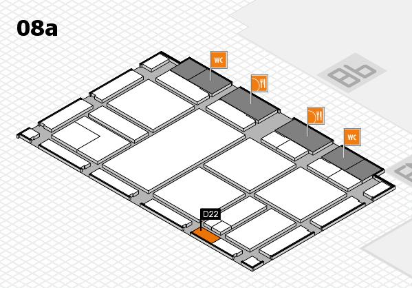 drupa 2016 Hallenplan (Halle 8a): Stand D22