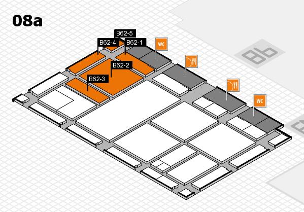 drupa 2016 Hallenplan (Halle 8a): Stand B62-1, Stand B62-5