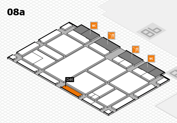 drupa 2016 hall map (Hall 8a): stand D46