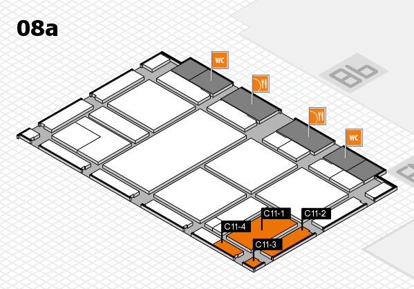 drupa 2016 hall map (Hall 8a): stand C11-1, stand C11-4