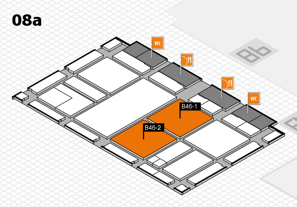 drupa 2016 Hallenplan (Halle 8a): Stand B46-1, Stand B46-2