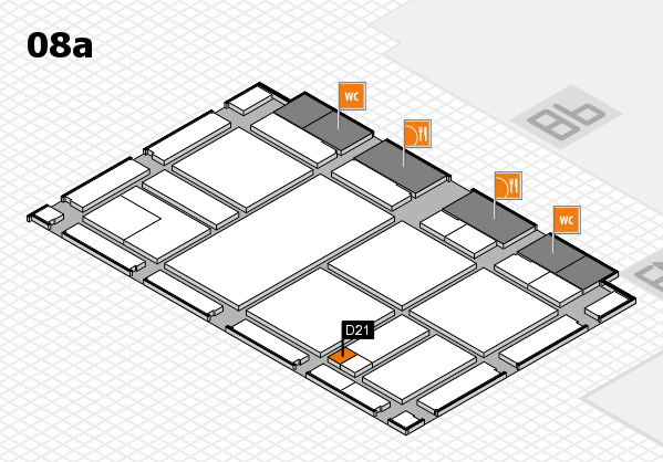 drupa 2016 hall map (Hall 8a): stand D21