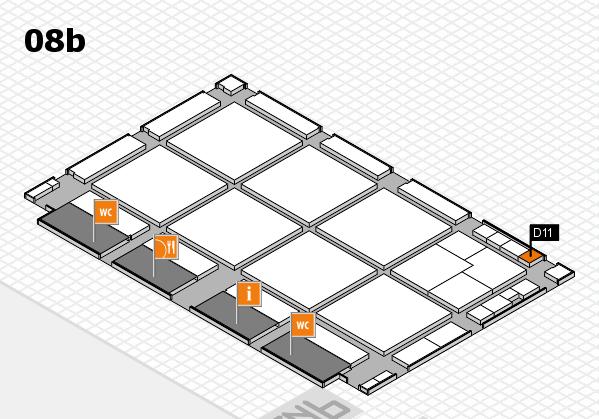 drupa 2016 hall map (Hall 8b): stand D11